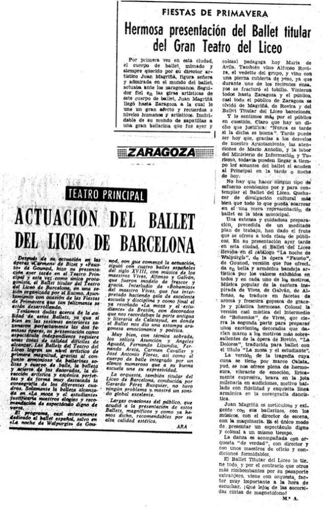 1966-05-07-Zaragoza-Fiestas de primavera-presentación del ballet titular del GTL