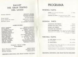 1968 - Gran Teatro del Liceo - programa- Orgía-Tapices de goya-farandola provenzal-boleras del siglo XVIII-bolero Torrent-romance del despecho-suit mediterranea-la vida breve-amor brujo