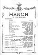 1968 - Gran Teatro del Liceo - MANON - reparto