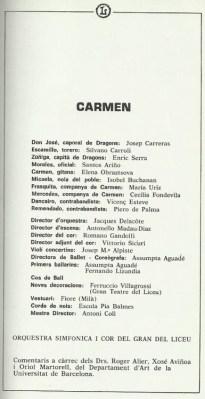 "1983 - ""Carmen"" - G. Teatro del Liceo"