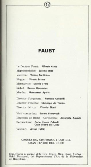 "1983 - ""Faust"" - G. Teatro del Liceo"