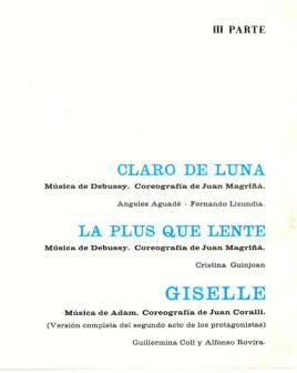 1967 - Palau de la Música - 3ª parte-claro de luna-La Plus que lente-Giselle-