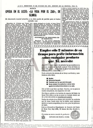 """1969-01-15-ABC-pag. 73-""""La Vida por el Zar"""""""