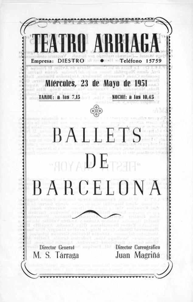 PBB-1951-05-23-Ballets de Barcelona-teatro Arriaga-Bilbao-0