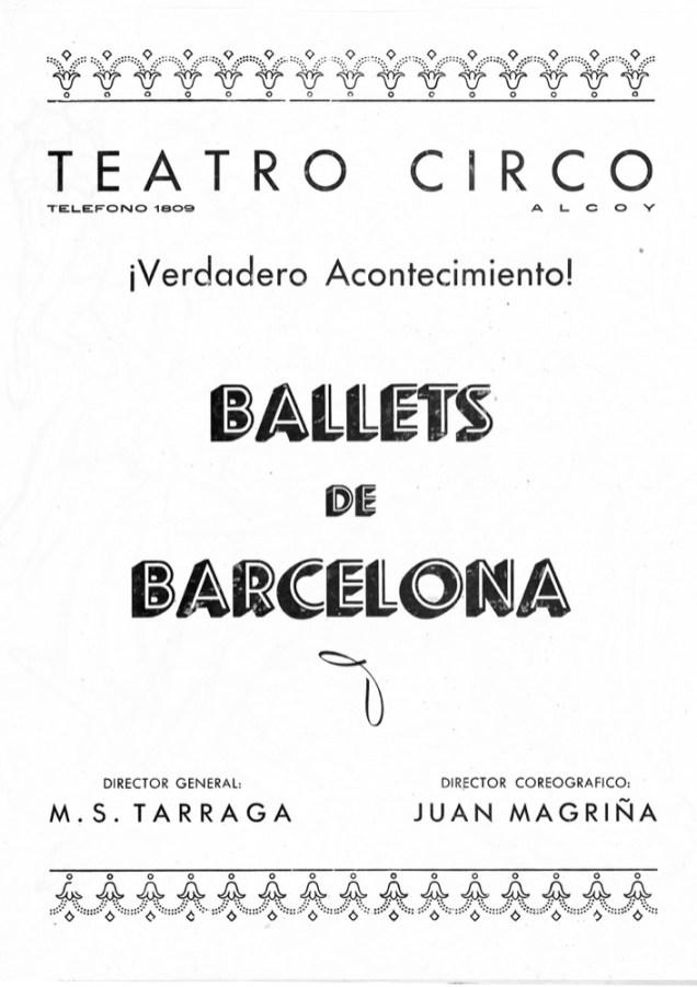PBB-1951-11-14-Teatro Circo-Alcoy-Ballets de Barcelona-0