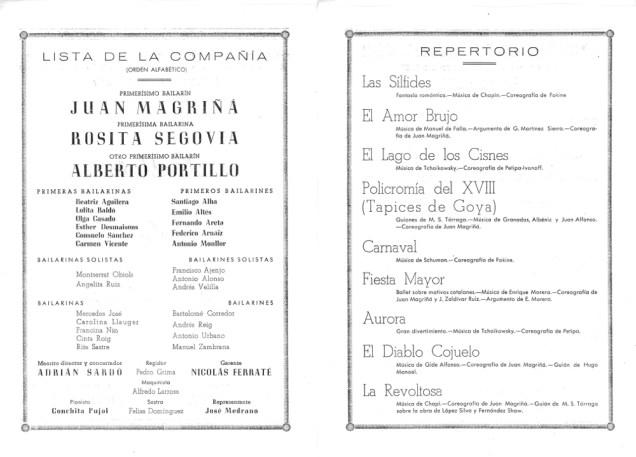 PBB-1952-Ballets de Barcelona-Teatro Principal-Palma de Mallorca-1