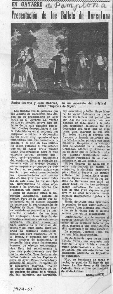 1951-52-Ballets de Barcelona-Gayarre-Pamplona-Echeveste