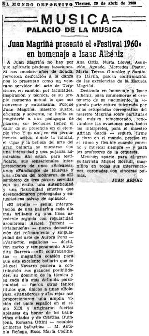 1960-04-29-El Mundo Deportivo-Juan Magriñá presenta el Festival 1960- homenatge a Albéniz-cr
