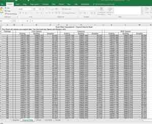 Excel Spreadsheet for calculation of Road Offsets