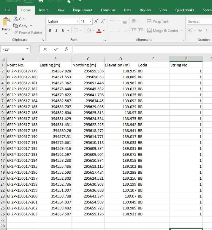 Stockpile Example Data 1