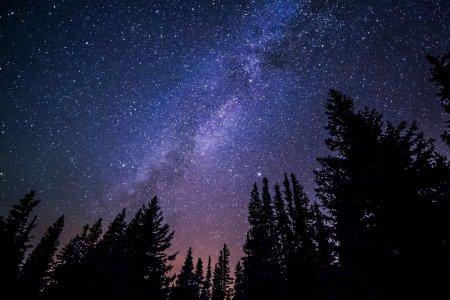 sterrenhemel van de kerstnacht