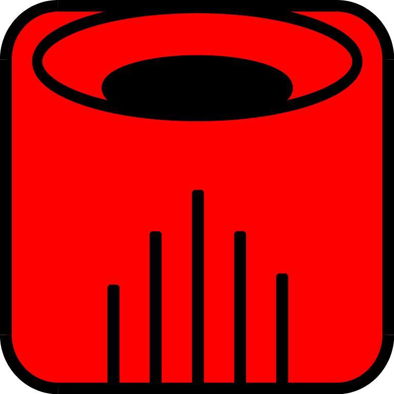 Roter Drache-Symbol