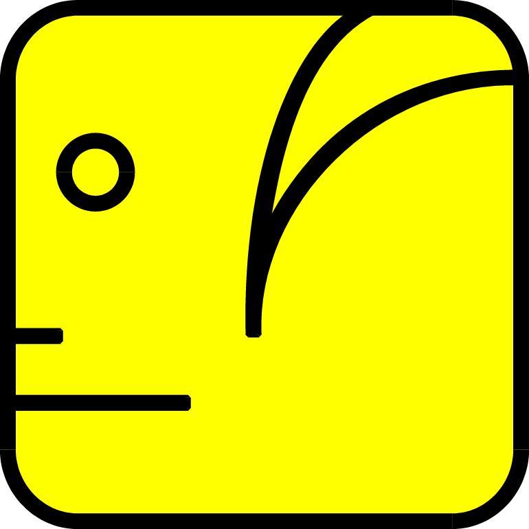 Gelber Mensch-Symbol