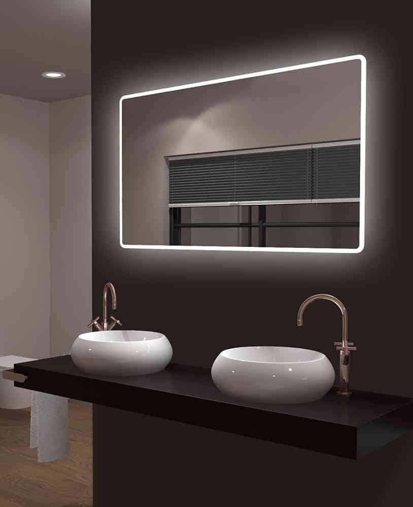 Badspiegel Mit Beleuchtung Talos Moon Lichtspiegel Shop