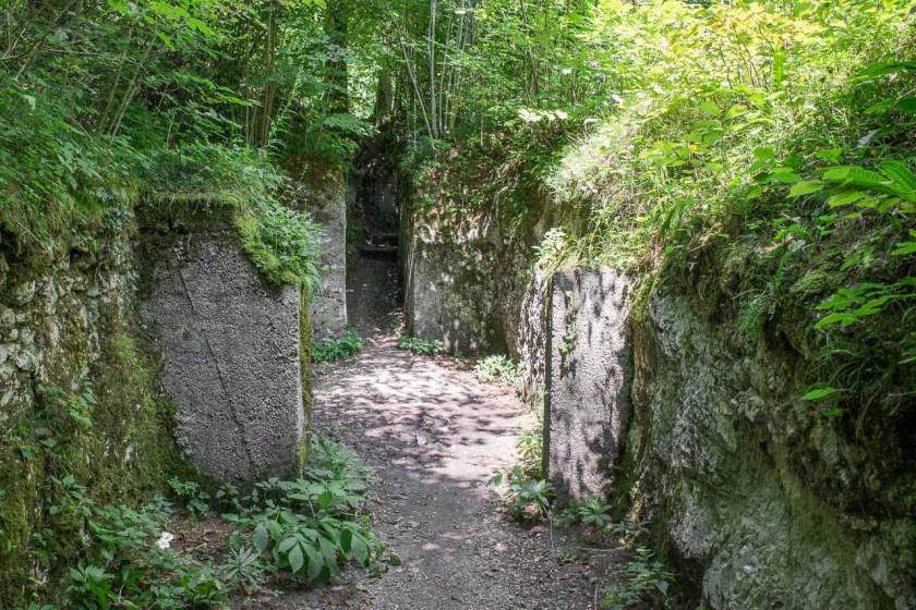 Schützengraben aus dem Ersten Weltkrieg