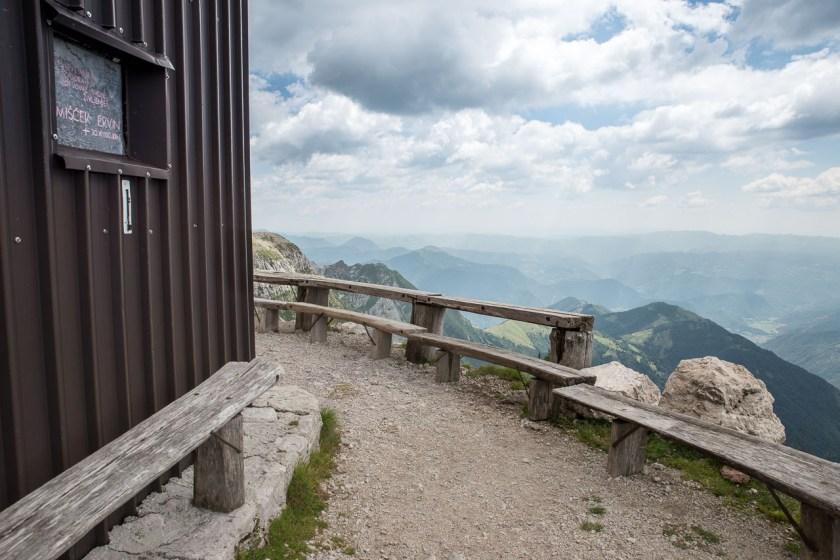 Fantastischer Ausblick von der Krn-Hütte