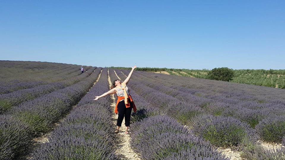 Licia in Lavender 2016 outside of Valensole France