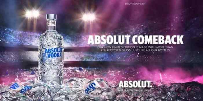 Vodka Absolut Comeback, Vodka reciclado