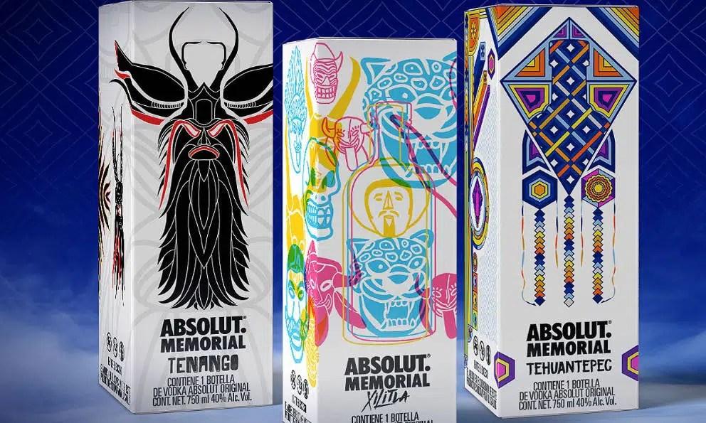 """Absolut Vodka lanza """"Memorial"""", 3 botellas de vodka inspiradas en las tradiciones mexicanas"""