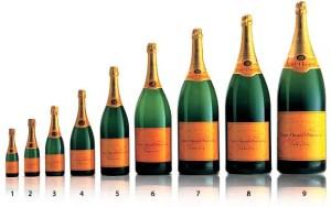 Garrafas de champagne