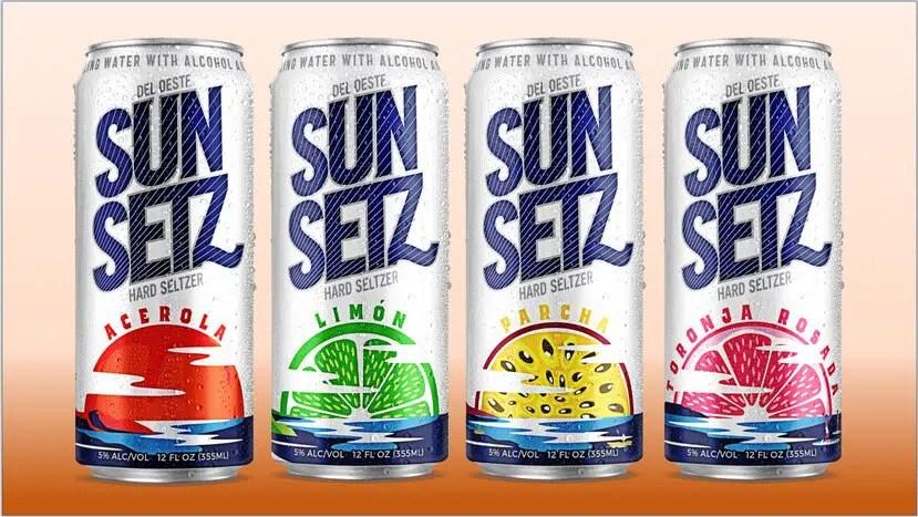 SunSetz Hard Seltzers, con 5% de alcohol, llega al mercado