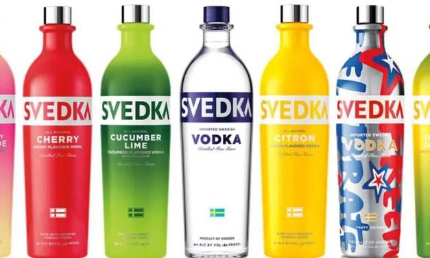Svedka, vodka sueco a base de trigo y agua de manantial