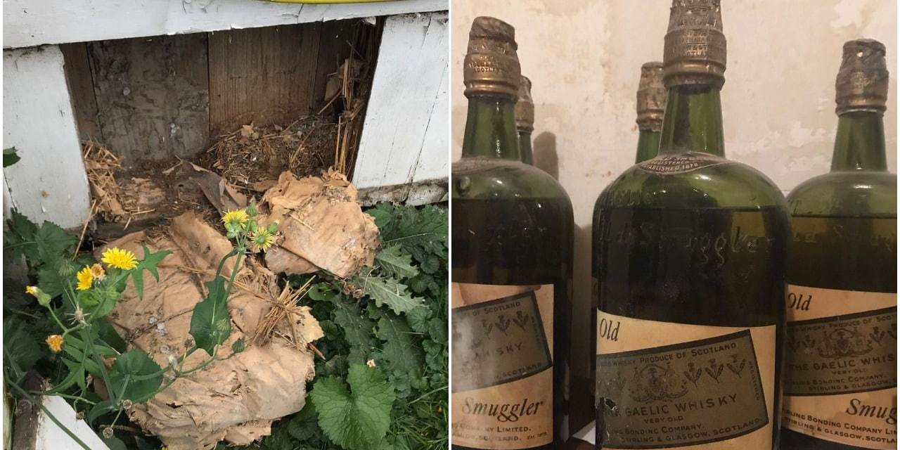 Botellas antiguas de whisky fueron encontradas