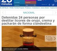 24 detenidos por elaborar licores de forma clandestina