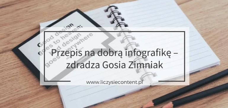 Przepis nadobrą infografikę – zdradza Gosia Zimniak