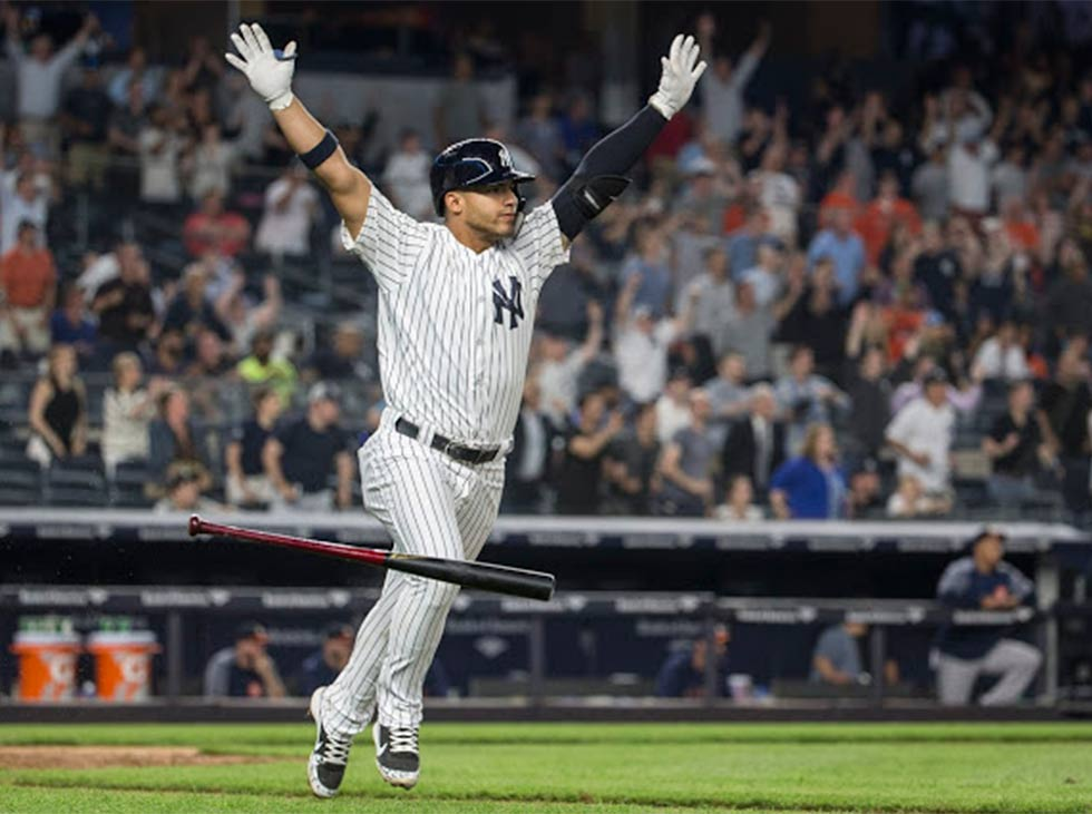 Gleyber Torres hit his first home run of the season
