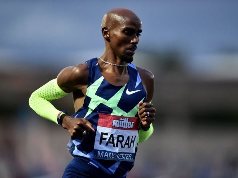 Mo Farah was seconds away from the 10.000m mark