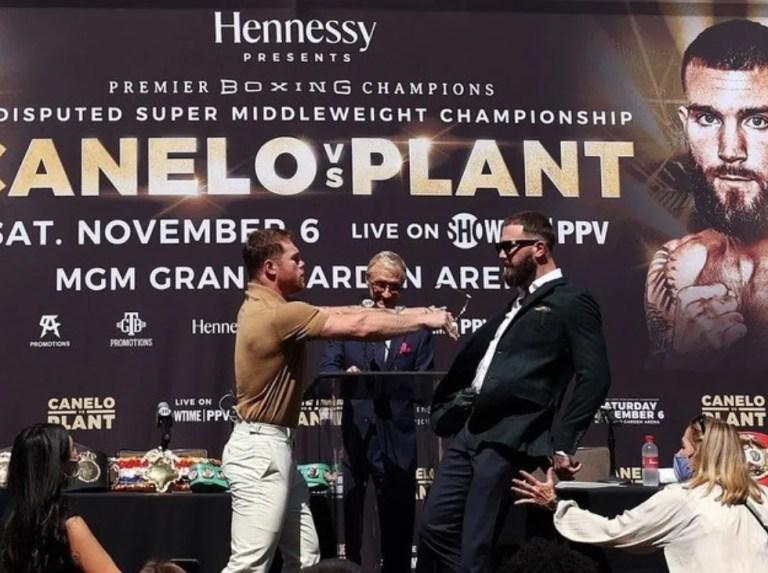 'Canelo' y Plant protagonizaron vergonzosa rueda de prensa