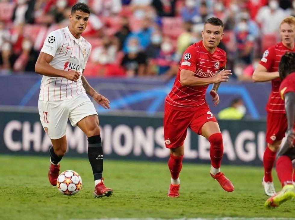 Sevilla no pudo pasar del empate en casa ante el Salzburgo