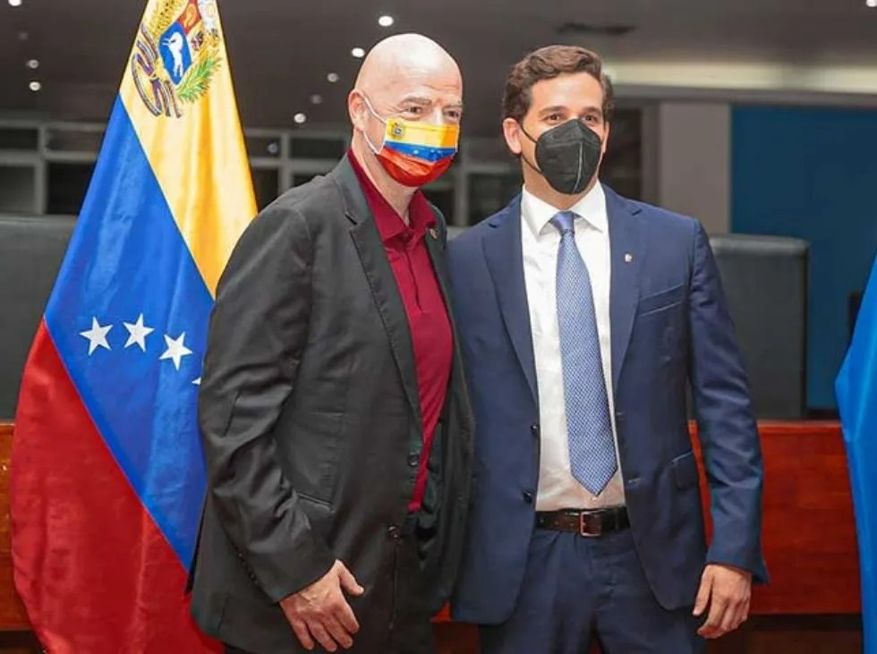 Infantino arrived in Venezuela to fulfill the schedule of activities