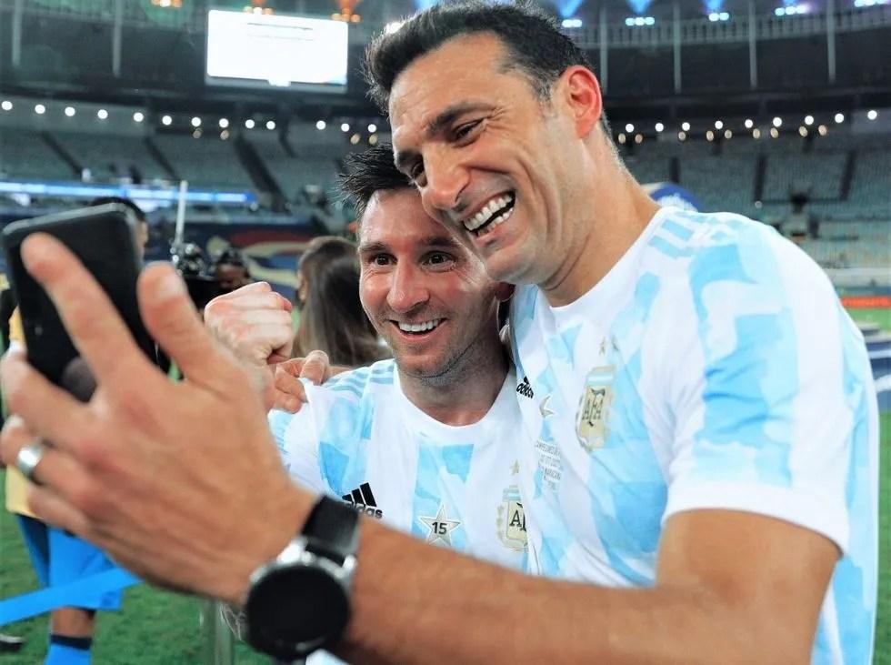Scaloni habló del buen momento de Messi con Argentina