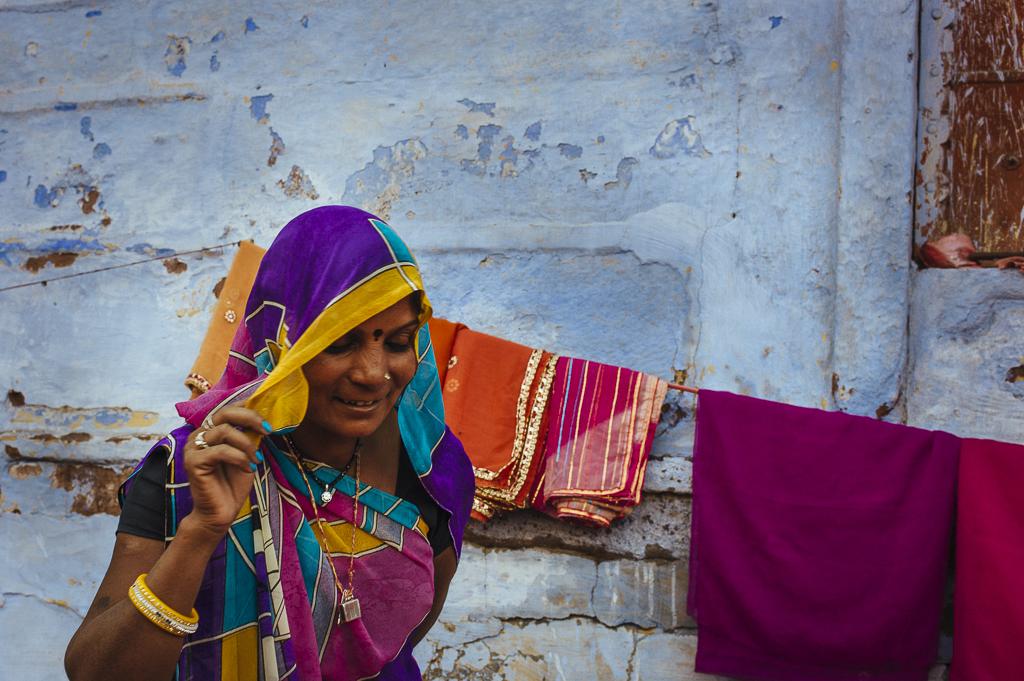 Lady wearing Sari
