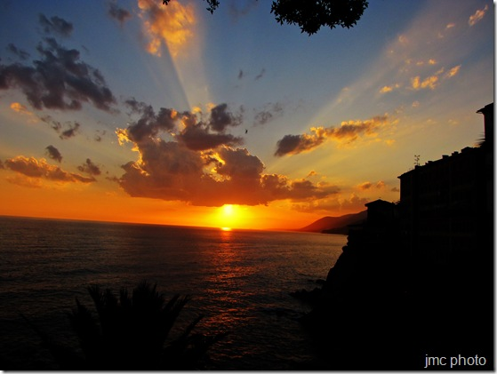 Sunset in Camogli, Italy