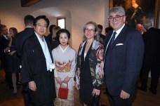 Empfang für das Diplomatische Corps Donnerstag, 10. Januar 2019, 10.30 Uhr Schloss Vaduz Japanische Botschafter Etsuro Honda mit Gemahlin und Anita und Donat Marxer Fotograf: Roland Korner