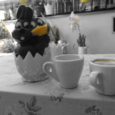 Kaffeepause bevor es Mittagsruhe gibt.