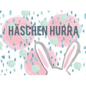 Waldgraefin Postkarte Häschen Hurra WG051