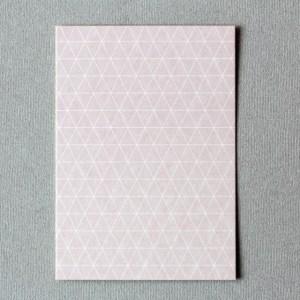 perlenfischer postkarte gitter rauten rosa1 P016