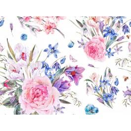 Blue Bouquet Baumwolle
