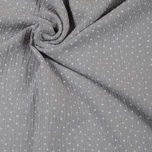 A-1401-131 Double Gauze Dots grey