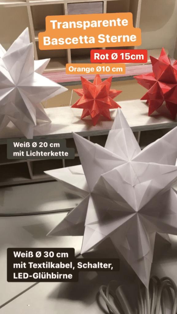 Bascettasterne, Adventsbasar, Origami