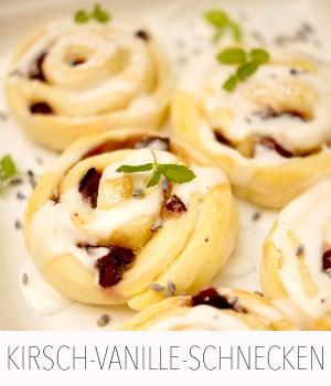 Kirsch-Vanillepudding-Schnecken