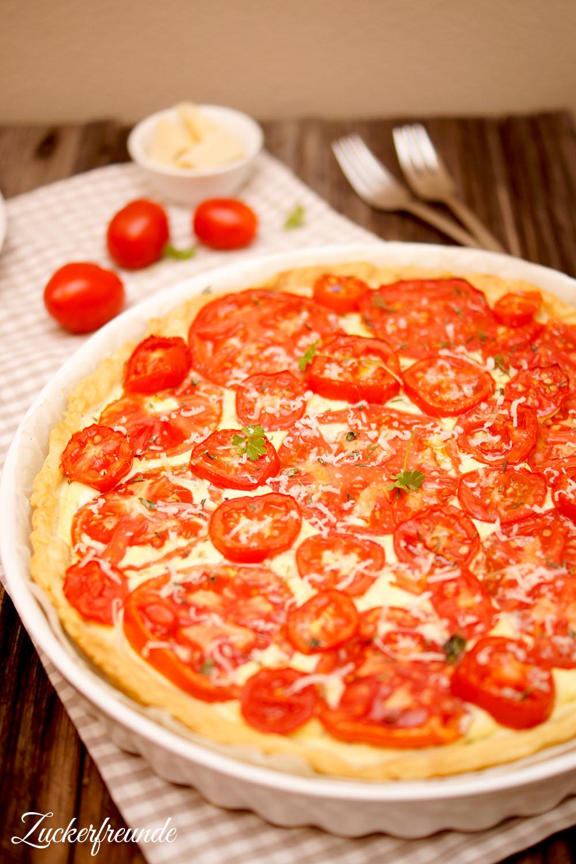 Tomaten-Tarte mit Frischkäse
