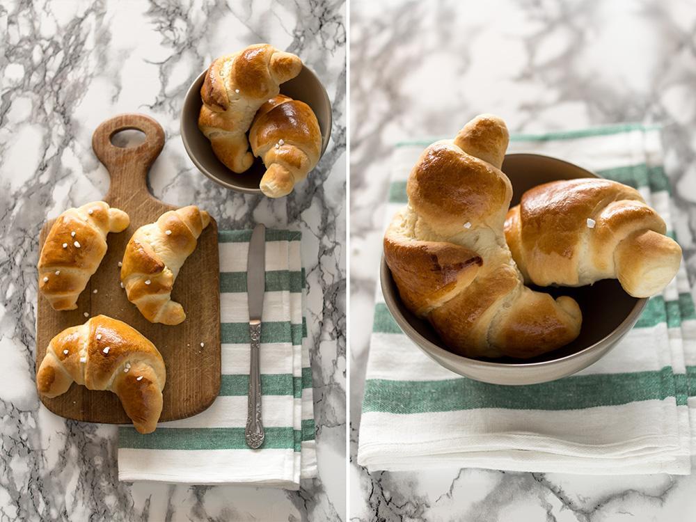 Süße Frühstückshörnchen selber backen - einfaches Rezept zum Ausdrucken!