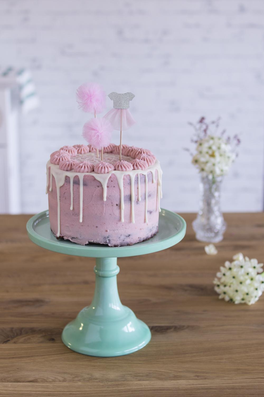 Himbeer Schoko Törtchen - Drip Cake