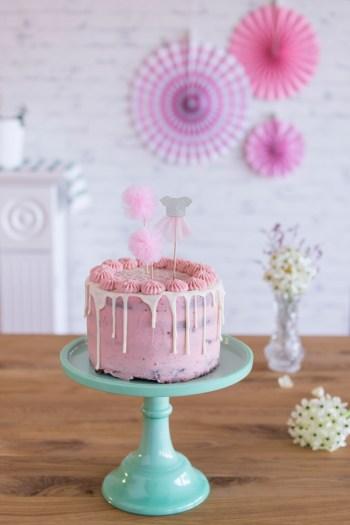 Himbeer-Schoko Torte - Geburtstagstorte für ein Mädchen