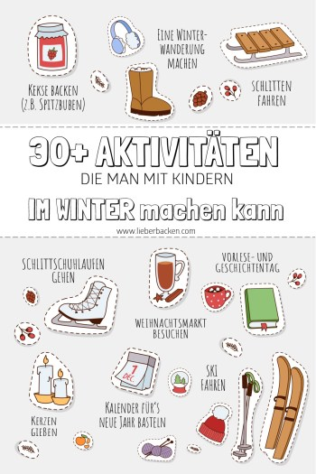 Winter Bucket List: 30+ Aktivitäten, die man mit Kindern im Winter machen kann